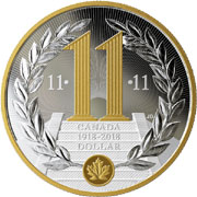 1918-2018 Armistice Centennial Peace $10 Silver Coin Canada 100th Solider Poppy